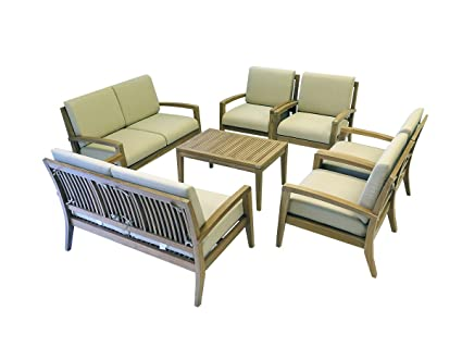 Image Unavailable. Image not available for. Color Ohana Teak Patio Furniture 8-Seater ...  sc 1 st  Amazon.com & Amazon.com: Ohana Teak Patio Furniture 8-Seater Conversation Set ...