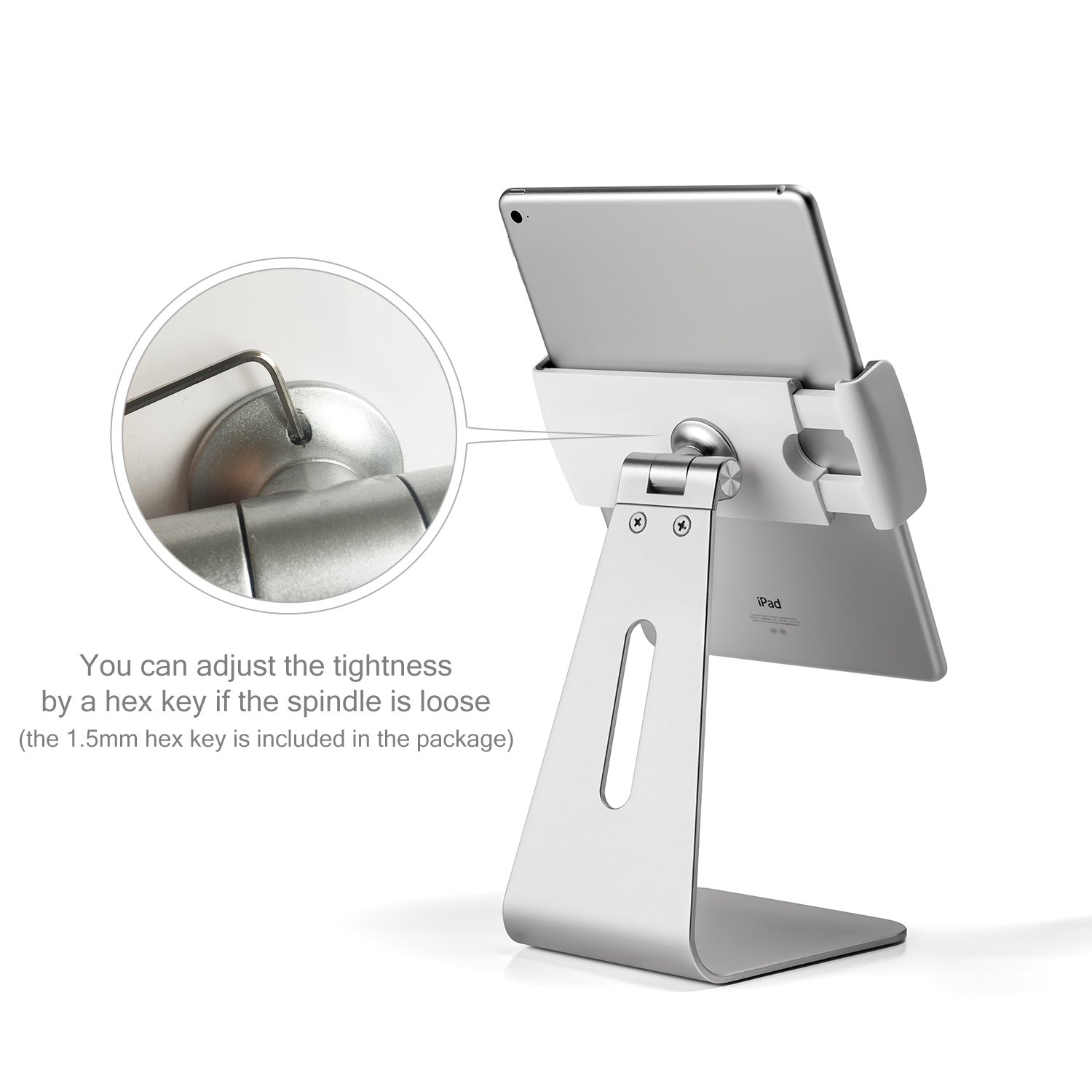 Viozon ipad Pro Stand, Tablet Stands 360° Rotatable Aluminum Alloy Desktop Mount Stand for Ipad Pro Ipad Air Ipad Mini Surface and Surface Pro by Viozon (Image #10)
