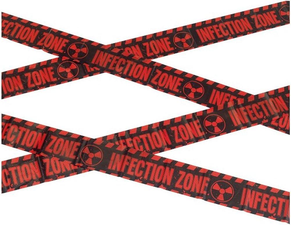 Smiffys Zombie infección Zona precaución Cinta Halloween Decor
