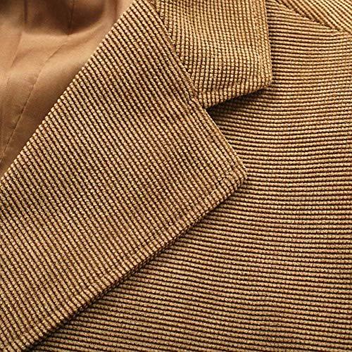 Pour Côtelé Hommes Élégant De Coude Formel À En Convient Une Vêtements Dîner Patchs Velours Veste Capa BwFaqt