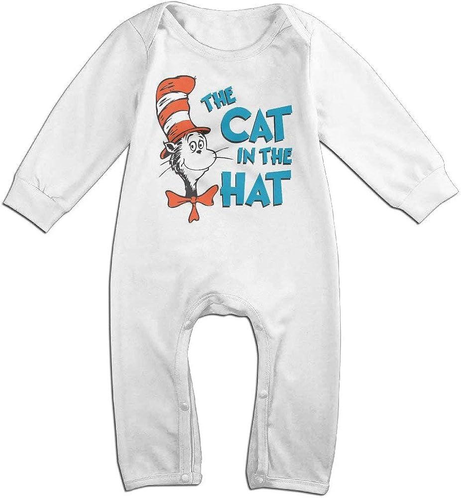 Huijiaoo Dr Seuss The Cat in The Hat Baby Onesie Romper Jumpsuit Bodysuits