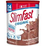 SlimFast – Original Meal Replacement Shake Mix Powder – Weight Loss Shake – 10g of Protein – 24 Vitamins and Minerals Per Serving – Great Taste – 12.83 oz. – Creamy Milk Chocolate