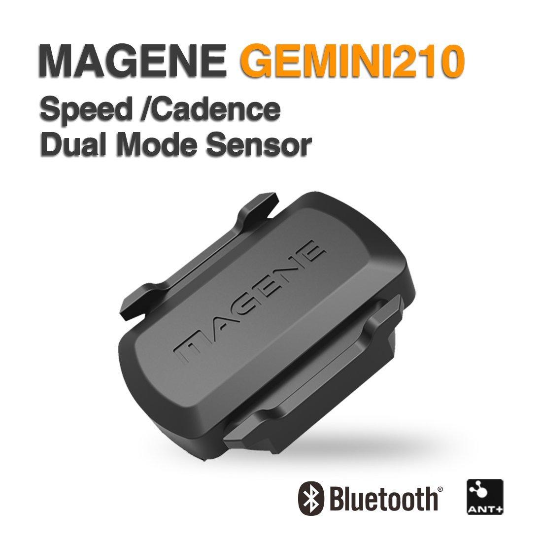 Magene Bicicleta Speed/Cadence 2 en 1 Sensor ANT+ Bluetooth Multiprotocolo Soporte GEMINI210 (Speed/Cadence Sensor)