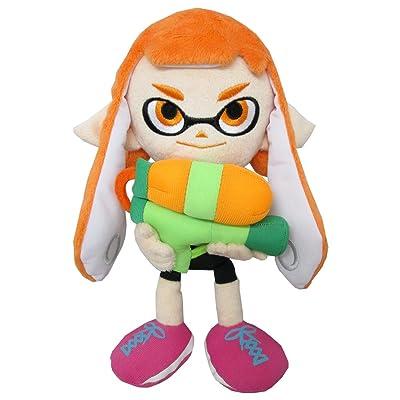 "Sanei SP01 Splatoon Series Female Inkling Stuffed Plush, 9"": Toys & Games"