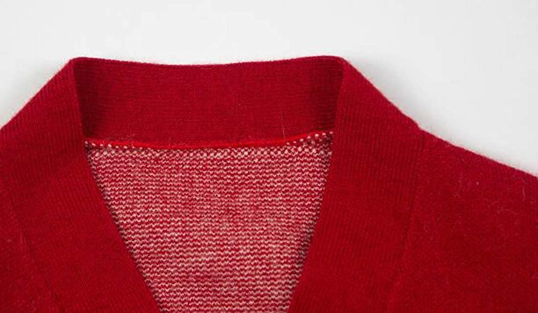 XiaoTianXinChildrenscostumes XTX Girl Sweater Coat V-Neck Cute Slim Fit Knit Cardigans