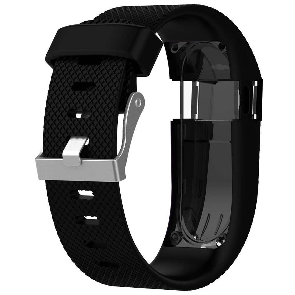 No Tracker QGHXO Band for Fitbit Charge HR Soft Silicone Adjustable Replacement Strap with Metal Buckle Clasp for Fitbit Charge HR Wireless Activity Fitness