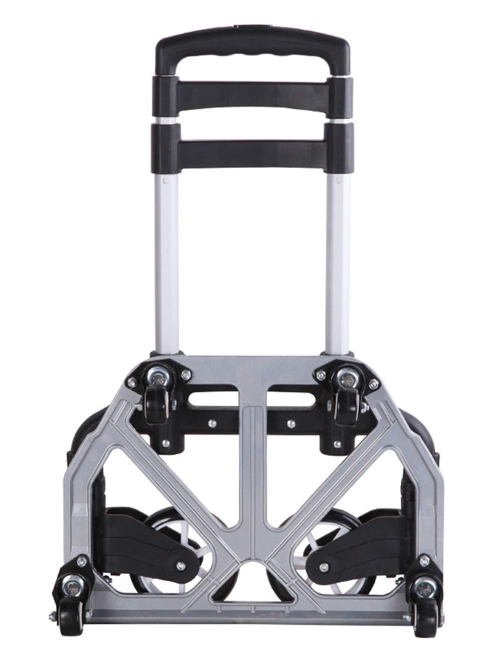 トロリーアルミニウム合金構造、耐荷重70kg、携帯用トロリー (色 : シルバー しるば゜) B07H8BLKDN シルバー しるば゜
