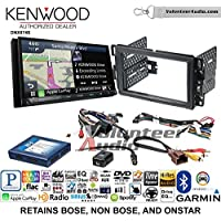 Volunteer Audio Kenwood DNX874S Double Din Radio Install Kit with GPS Navigation Apple CarPlay Android Auto Fits 2007-2013 Silverado, Avalanche (Onstar and Bose)