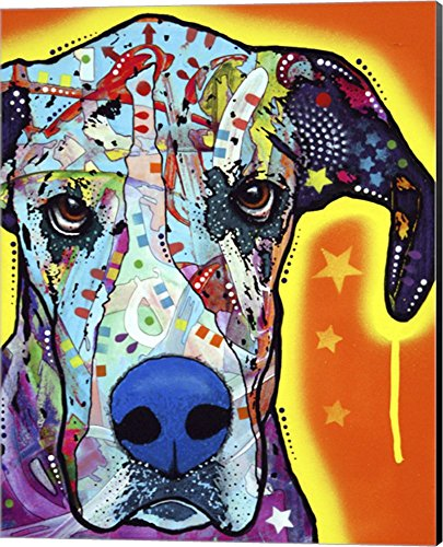 Great Dane by Dean Russo Canvas Art Wall Picture, Museum Wrapped with Black Sides, 16 x 20 inches