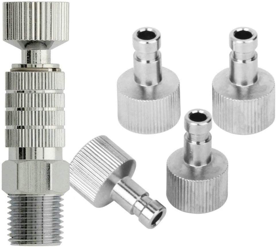 "1//8/"" Airbrush Disconnect Release Coupling Coupler Adapter Connecter Hose Pip"