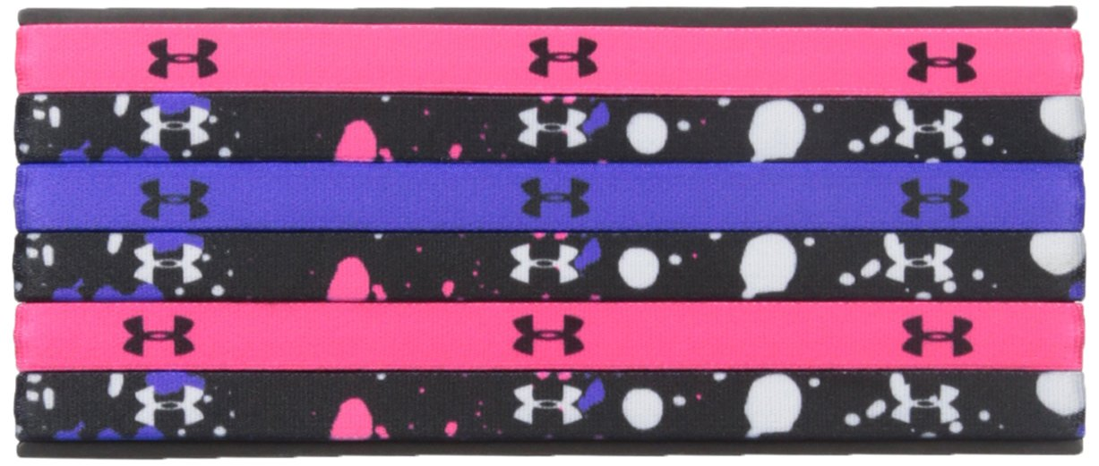 Under Armour Girls' Graphic Headbands - 6 Pack, Black /White, One Size Fits All by Under Armour (Image #1)