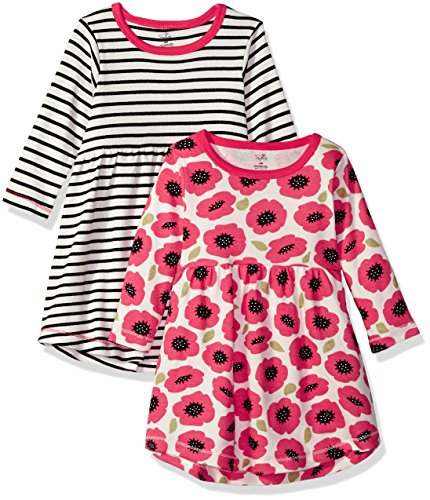 Touched by Nature Baby Girls' 2-Pack Organic Cotton Dress