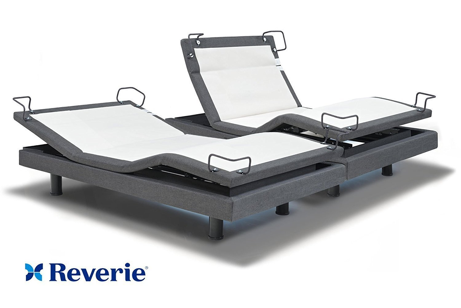 iDealBed Signature Reverie 8i Adjustable Bed Base, Wireless, Wall Hugger, High Definition Massage, Anti-Snore, USB Charge Ports, Night Light, Bluetooth, Split King by Reverie