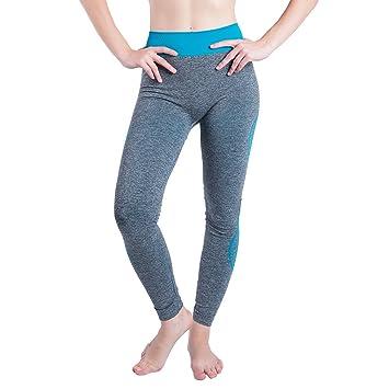 ALIKEEY Vêtements de Yoga Tapis de Yoga Collants de Sport Femmes Gym Yoga  Patchwork Sports Running 8702bebe7de