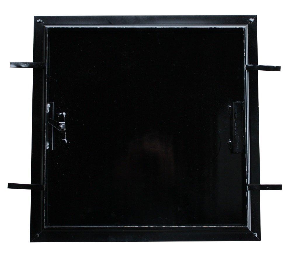 Schachtdeckel, Revisionsdeckel Stahlblech schwarz, 80 x 80 cm ...