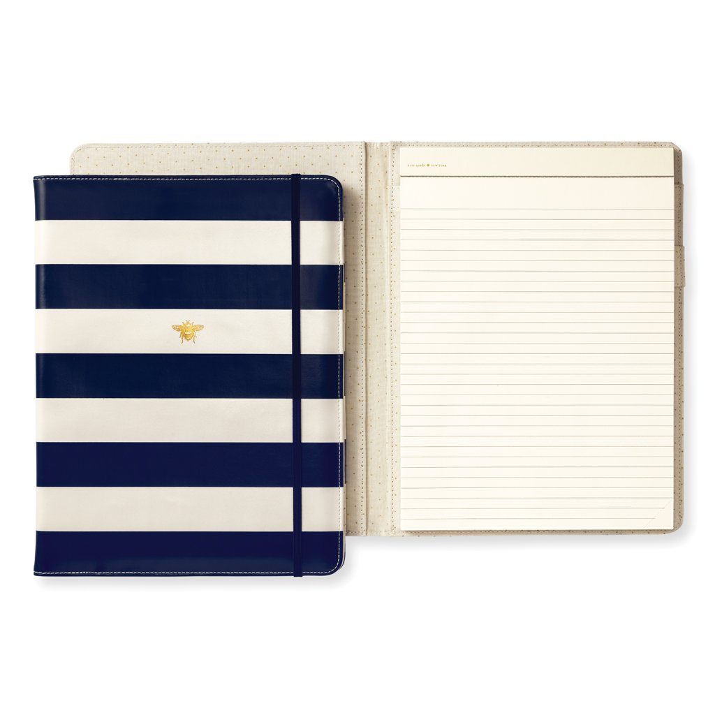 Kate Spade New York Women's Legal Notepad Folio (Navy Stripe) Lifeguard Press