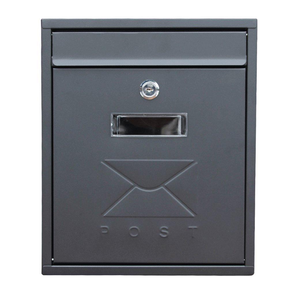 CXQ 防水性の手紙の壁の吊りホームヨーロッパの小さな郵便受けの郵便箱の屋外の防水性のメールボックス   B07FVNNPQQ