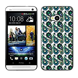 ZECASE Funda Carcasa Tapa Case Cover Para HTC One M7 No.0000305