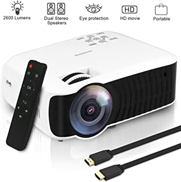 Yaufey 2200 Lumens LED Video Projector Multimedia Projector Home Smart Theater