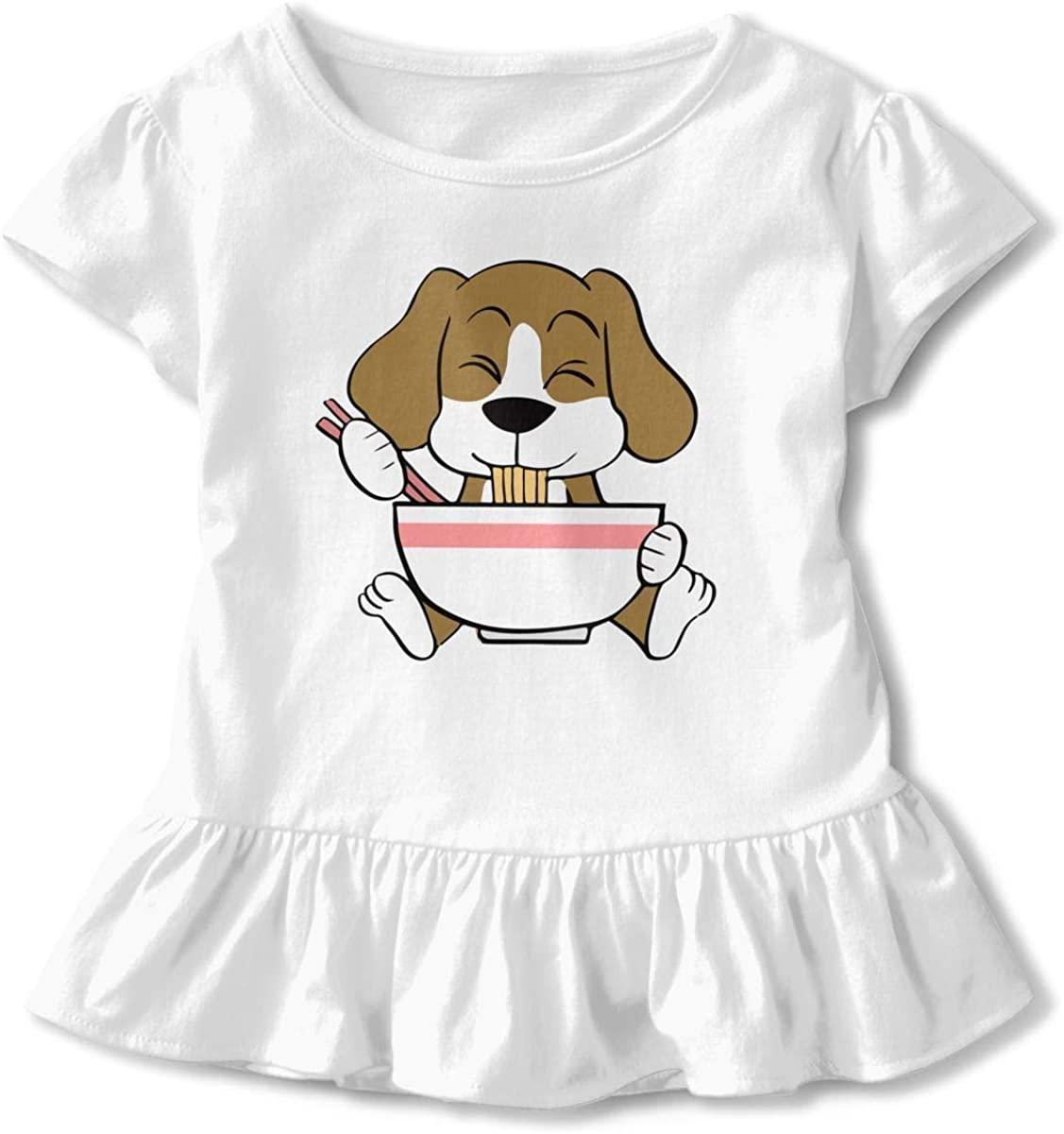 26NSHIRT Funny Kawaii Ramen Girls Short Sleeve Cotton T-Shirts