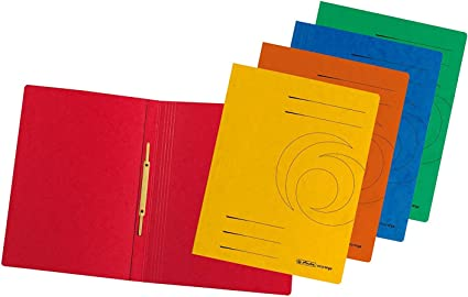 rot Herlitz Spiralhefter Colorspan-Karton Farbe DIN A4