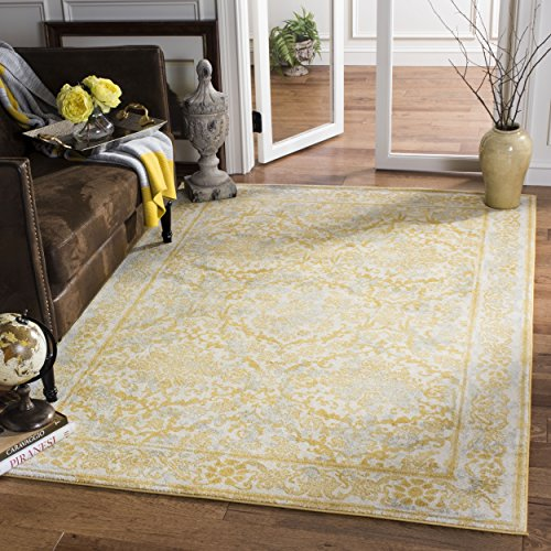 Safavieh Evoke Collection EVK242S Vintage Ivory and Gold Area Rug (8' x 10')