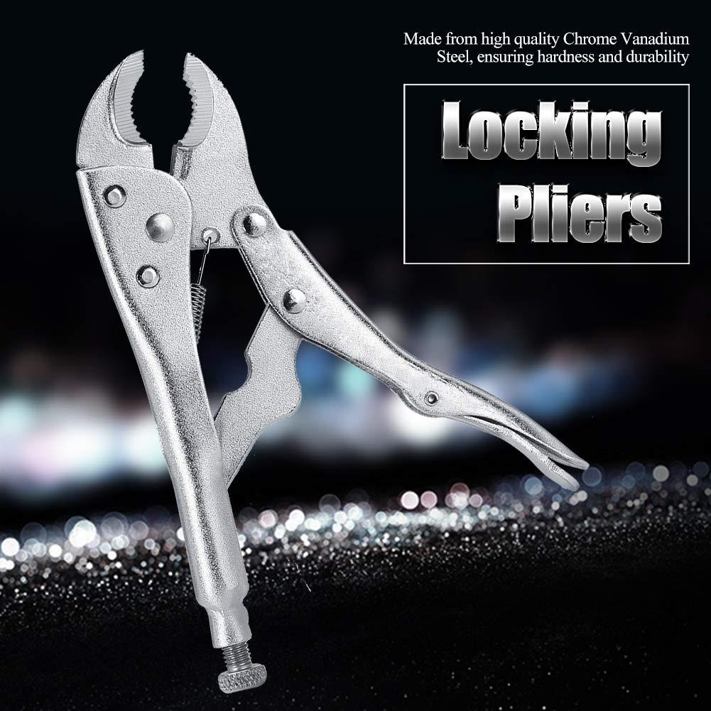 Alicates de bloqueo de nariz Pinzas de bloqueo de mordaza curvada alicates de agarre de tornillo de agarre curvo de 10 pulgadas alicates de bloqueo de mordaza