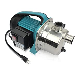 BACOENG 1.6HP Stainless Booster Pump Shallow Well Pump for Home Garden Irrigation