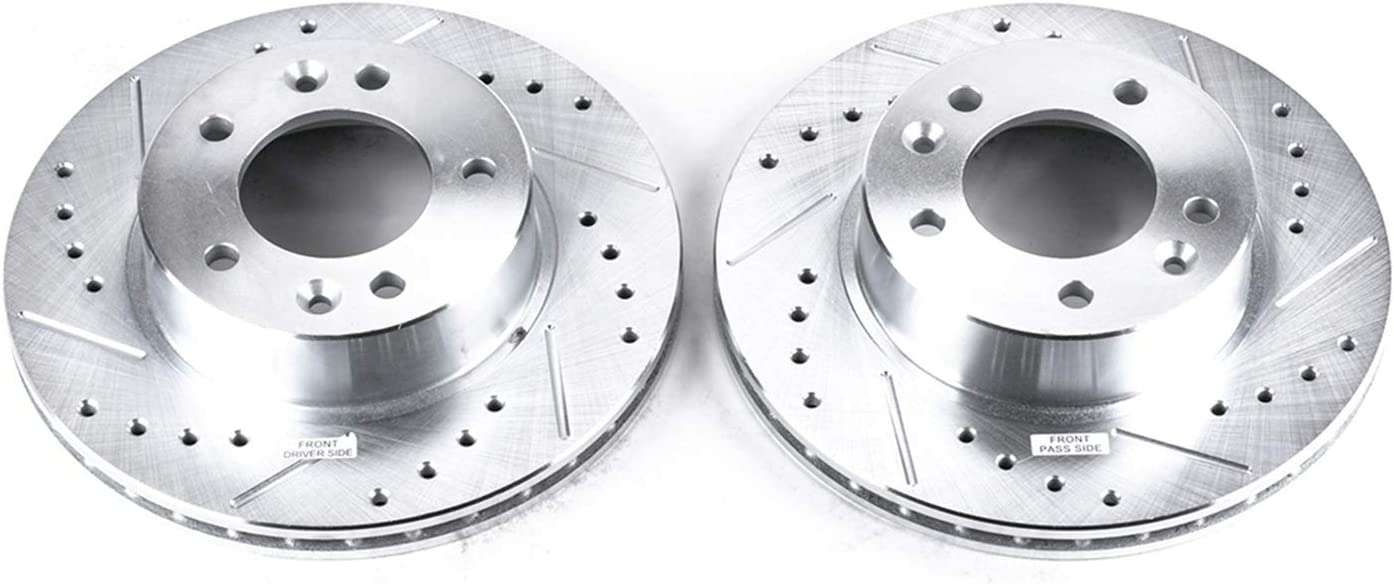 Power Stop JBR381XPR Front Evolution Drilled /& Slotted Rotor Pair