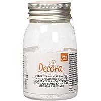 Decora, Colore in Polvere E171, Bianco, 2 Confezioni da 40 gr
