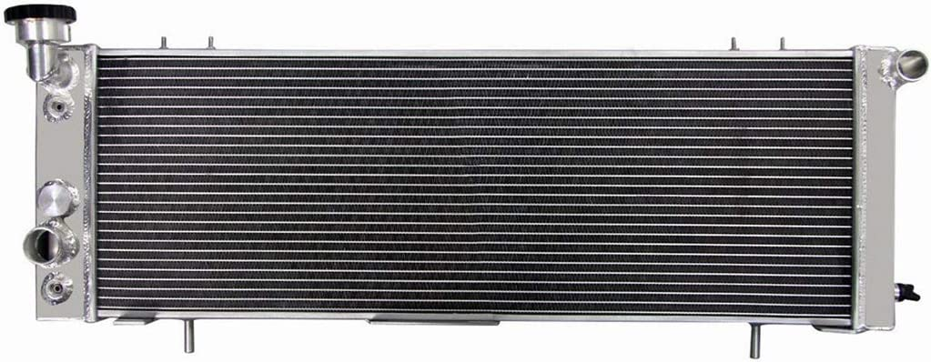 Direct Replacement CoolingSky 4 Row Full Aluminum Radiator for 1991-2001 Jeep Cherokee XJ,Comanche 2.5//4.0L Models