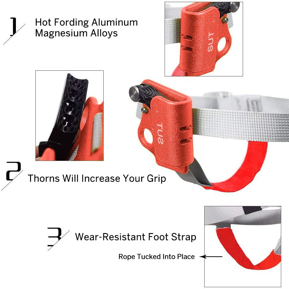Mountaineering Abseiling Rock Climbing Right or Left Foot Ascenders Equipment