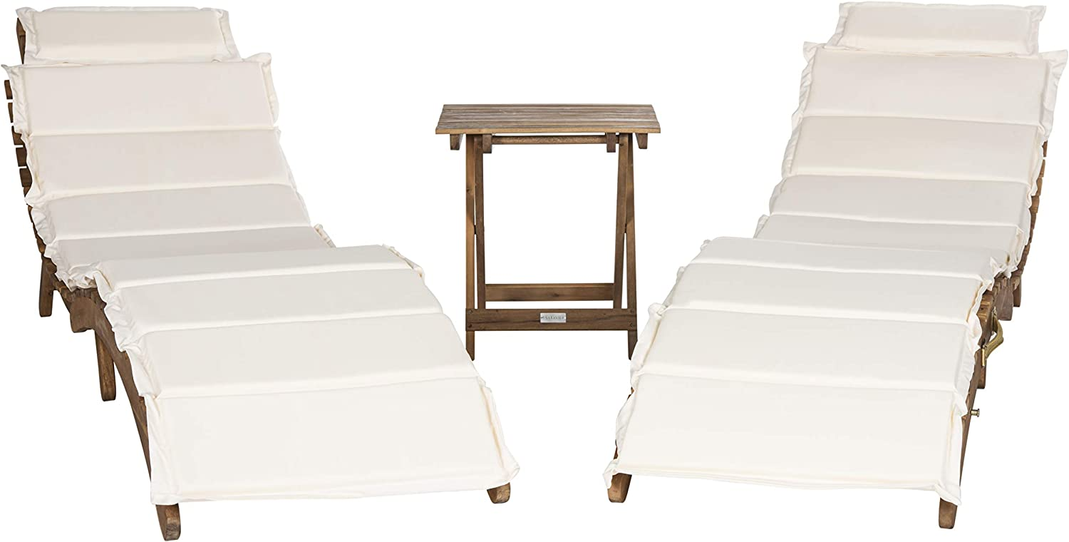 Safavieh 3 Piece Outdoor Collection Pacifica Lounge Set