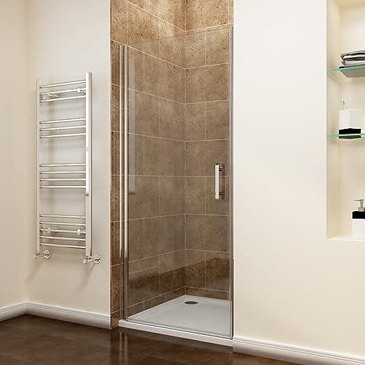Shower Cubicles. 700mm Frameless Pivot Shower Door Enclosure Glass  Reversible Cubicles Screen