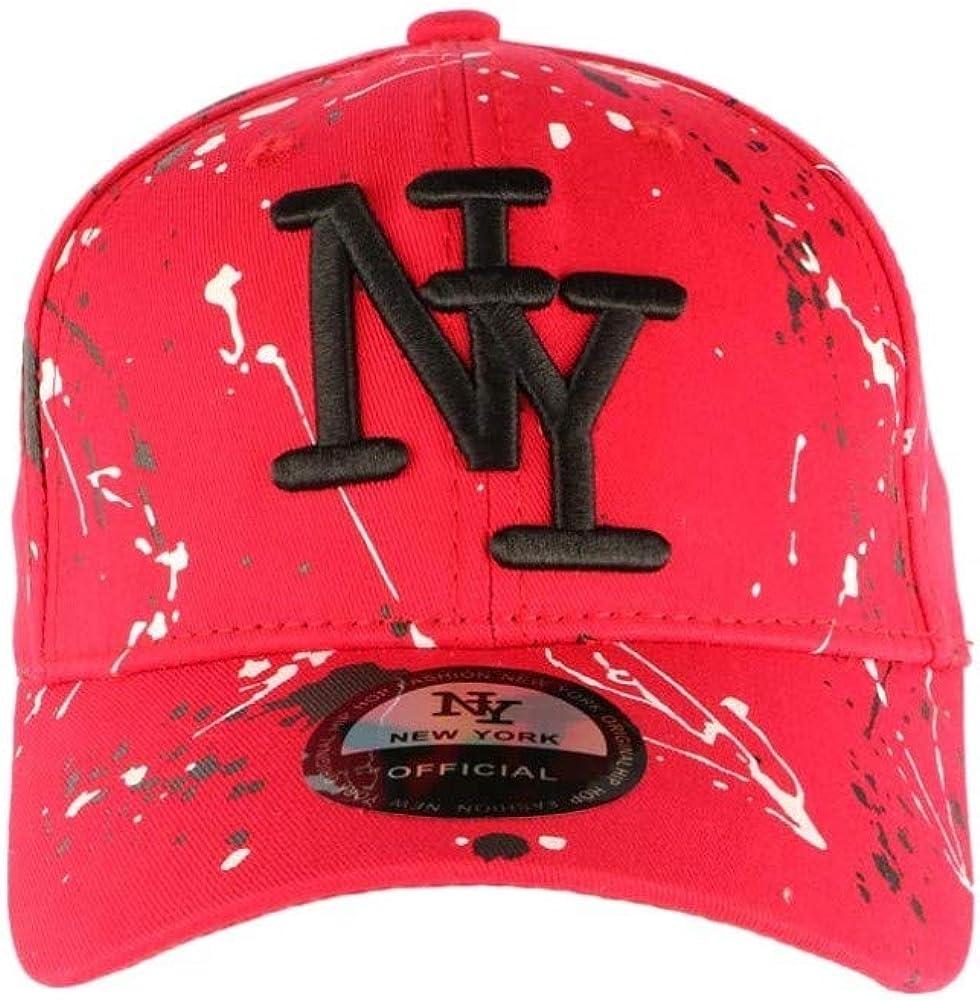 Hip Hop Honour - Gorra NY, Color Rojo y Negro Rojo Talla única ...