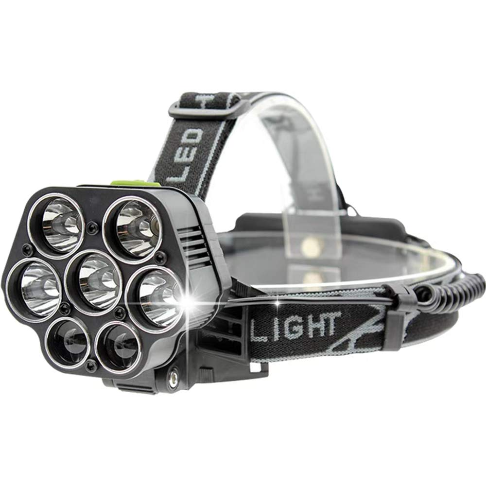 Einstellbare Scheinwerfer Sieben LED Nachtlicht Klettern Outdoor Camping Scheinwerfer Dimmen Scheinwerfer Sechste Gang