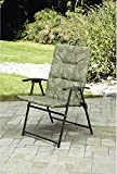 Folding Padded Sling Chaise Lounger Green Outdoor Lounge Chair Patio, Pool, Deck, & Garden Furniture. Nice Steel Frame Folds up Easy. Great for Camping Fishing Sports Events