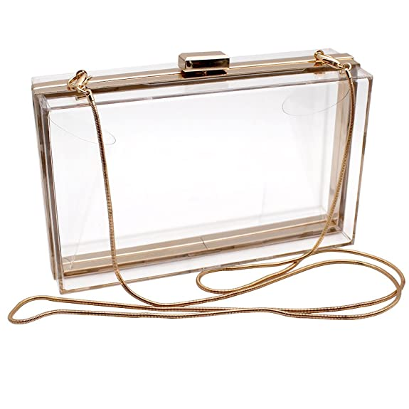 Vintage & Retro Handbags, Purses, Wallets, Bags HQdeal Luxury Acrylic Fashionable Transparent Evening Clutches Shoulder Bags Handbag for Women Ladies Gift Ideal $15.99 AT vintagedancer.com