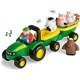 TOMY John Deere Animal Sounds Hayride Preschool Toy