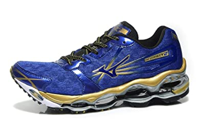 official photos 1771c 79f43 Mizuno Mens Wave Prophecy 2 Running Shoes Blue Depths/Gold ...