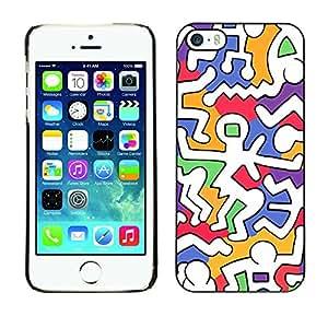 Paccase / SLIM PC / Aliminium Casa Carcasa Funda Case Cover para - Modern Colorful White Weird Alien - Apple Iphone 5 / 5S