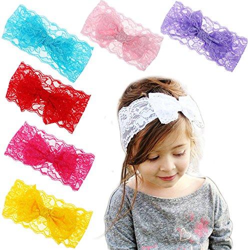 Hip Mall 8pcs Baby Girls Toddler Bow Headbands Turban Knot Rabbit Hairband Headwear