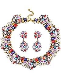 Statement Bling Rhinestone Crystal Choker Collar Necklace Fashion Chunky Jewelry