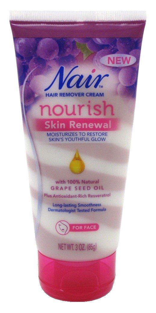 Nair Hair Remover Nourish Skin Renewal Face 3 Ounce (88ml) (6 Pack)