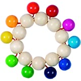 Heimess 735060 Wooden Touch Ring (Rainbow Beads)