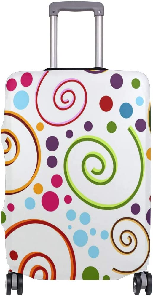 FANTAZIO Abstract Spiral Pattern Suitcase Protective Cover Luggage Cover