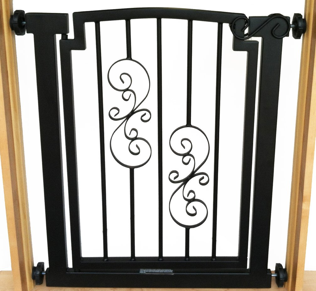 Noblesse Dog Gate - 32'' tall x 28''-34'' wide - Black