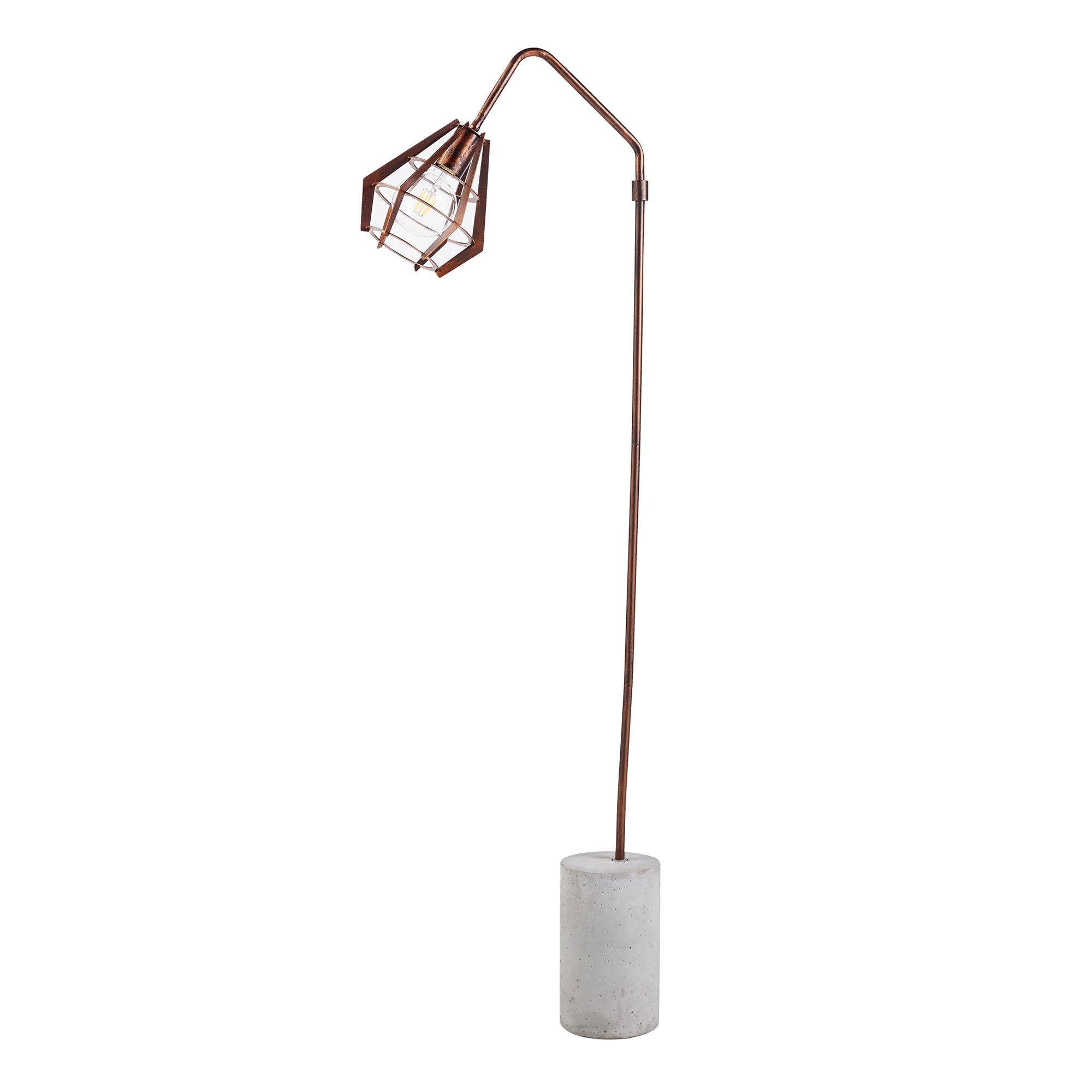 Versanora - Rustica Monopod Floor Lamps - Copper/Concrete