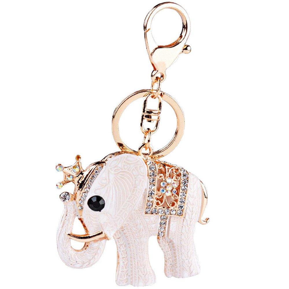 Amazon.com: Las mujeres rhinestone llavero, elefante de ...