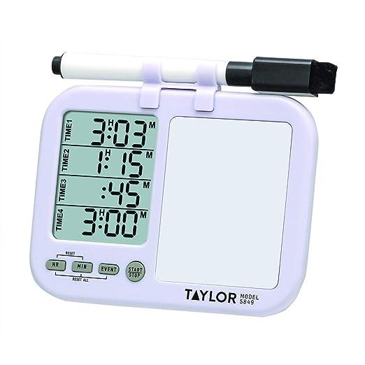 Taylor 5849 4 caso temporizador con pizarra blanca Plus bolígrafo ...